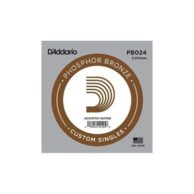 D'Addario Phosphor Bronze Acoustic Single String PB024