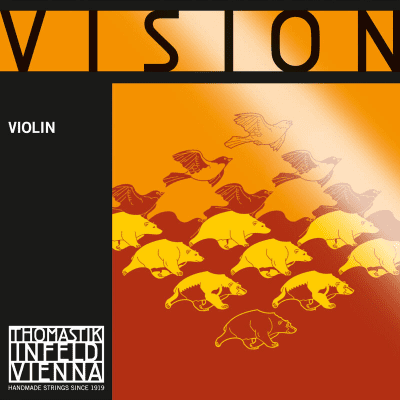 Thomastik-Infeld VI03A Vision Silver Wound Synthetic Core 4/4 Violin String - D (Medium)