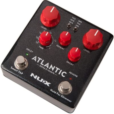 NUX Atlantic (NDR-5) Atlantic Multi Delay and Reverb Effect Pedal with Inside Routing