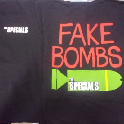 ONE The Specials Fake Bombs Concert T Shirt Men Medium new old stock English Ska Band