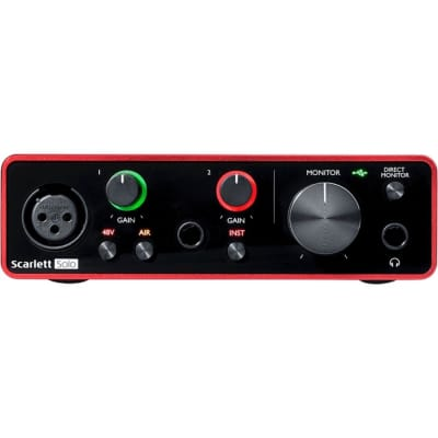 Focusrite Scarlett Solo 3rd Gen USB Audio Interface with Software