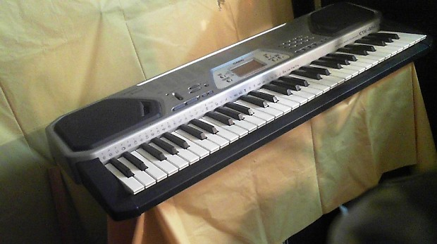 casio ctk 491 portable keyboard 61 full size keys with midi reverb. Black Bedroom Furniture Sets. Home Design Ideas