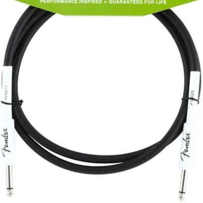 Fender Performance Series Instrument Cable, 5', Black for sale