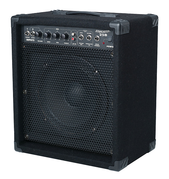 fender starcaster 25b bass guitar amplifier black reverb. Black Bedroom Furniture Sets. Home Design Ideas