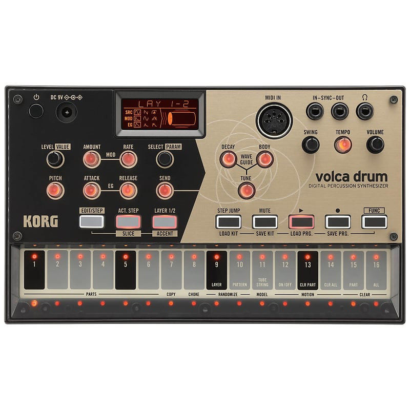 korg volca drum digital percussion synthesizer geartree reverb. Black Bedroom Furniture Sets. Home Design Ideas