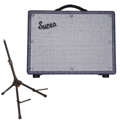 Supro Amps 1970RK Robert Keeley Custom 25w 1x10'' Guitar Combo Amp w/ Amp Stand for sale