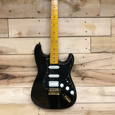 Moonstone 66 Gold Series Strat-style Black for sale