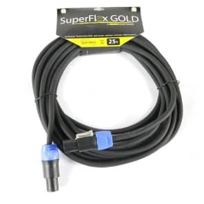 SuperFlex GOLD SFS-25NN-SD 16-Gauge Twist Lock Speaker Cable - 25'