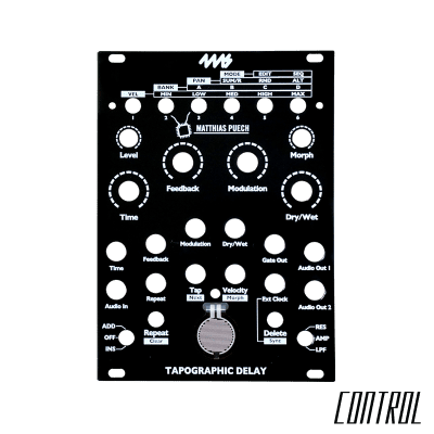4ms Tapographic Delay TD Black Replacement Panel