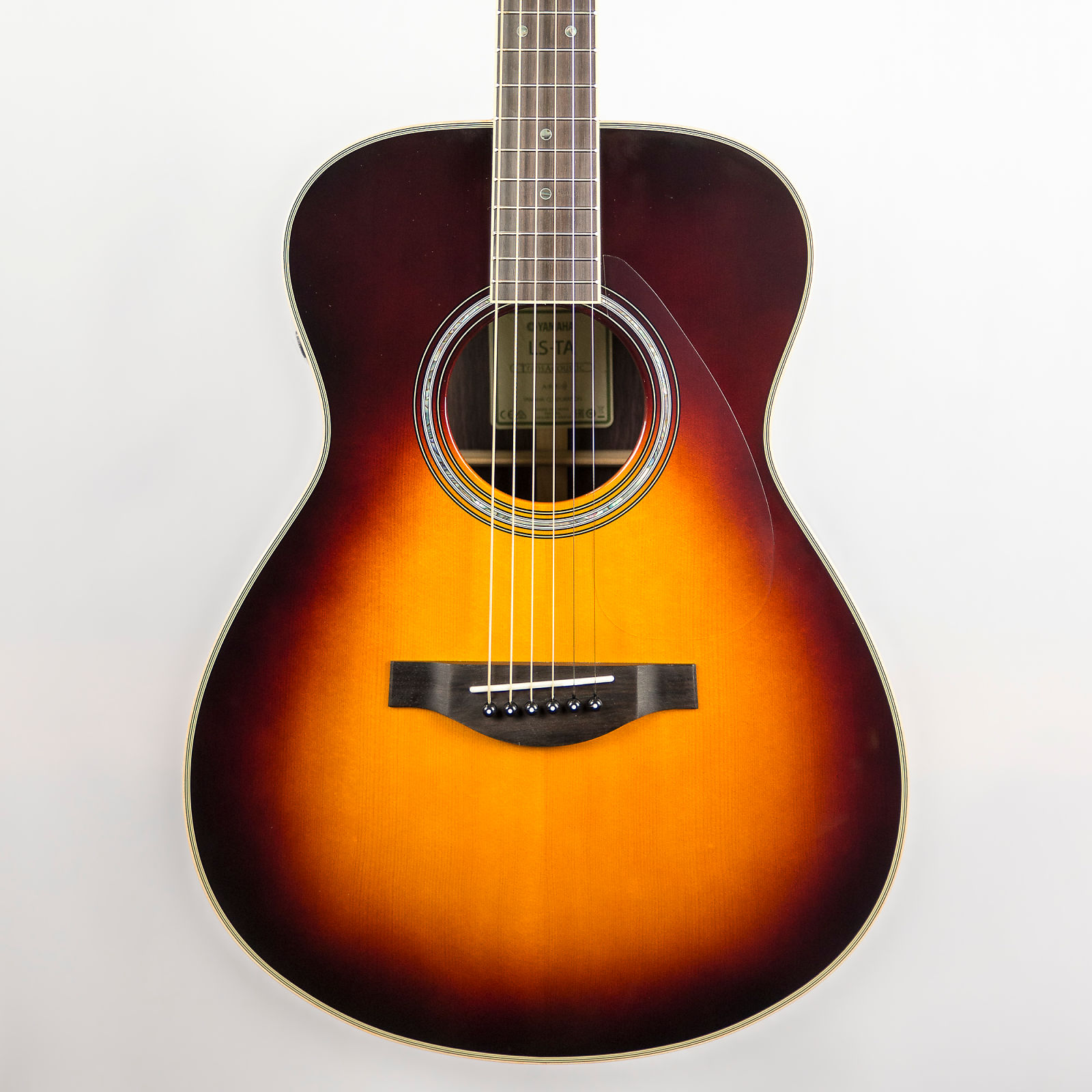 yamaha ls ta transacoustic guitar in brown sunburst