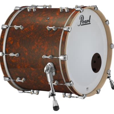 "Pearl Music City Custom Reference Pure 22""x20"" Bass Drum Burnt Orange Abalone"