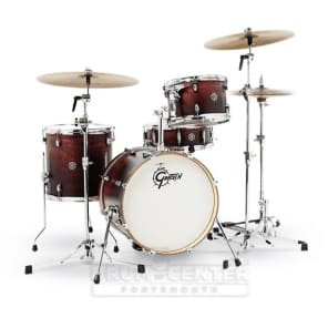 Gretsch Catalina Club 3 Piece Drum Set With 18 Bass Drum - Satin Antique Fade