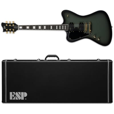 ESP LTD Sparrowhawk LH Military Green Sunburst Satin Bill Kelliher Left-Handed Guitar + Case B-Stock for sale