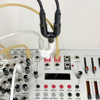 Stackable Mult Splitter [1White] work with 3.5mm mono patch cable for Eurorack module/Synth/Audio/CV