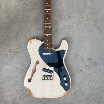 Rittenhouse  T-style Thinline Telecaster - Fender loaded  White - Relic - Nitro for sale
