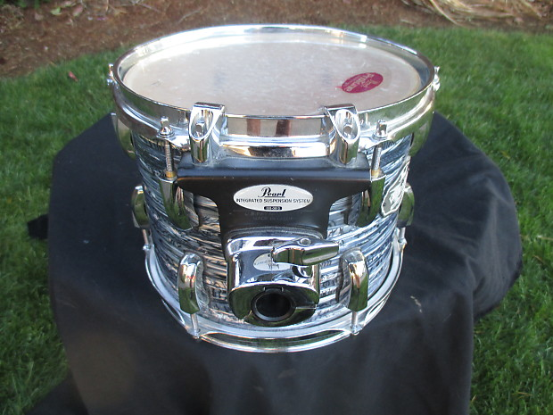 Pearl Vision Birch 10 X 8 Mounted Tom, Blue Oyster, Excellent!