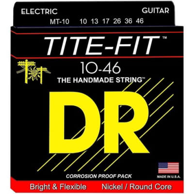 DR TITE-FIT™ - Nickel Plated Electric Guitar Strings: Medium 10-46