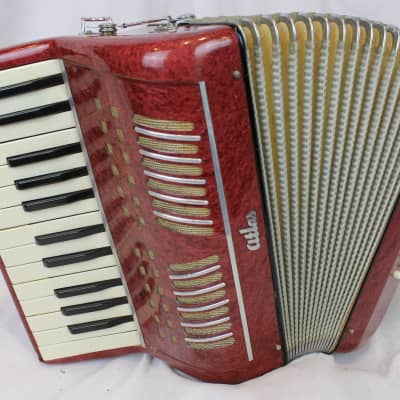 4120 - Raspberry Atlas Piano Accordion LM 25 12 for sale