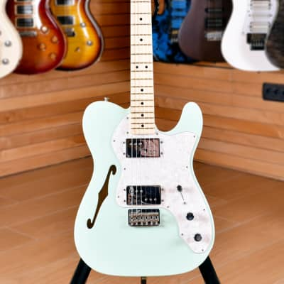 Fender Special Edition '72 Telecaster Thinline Maple Fingerboard Surf Green for sale