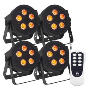 American DJ Hex Par Pak w/ (4x) 5P LED Lights and Remote