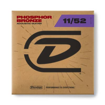 Dunlop Phosphor Bronze Acoustic Guitar Strings - 11-52
