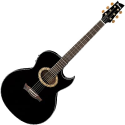 Ibanez EP5-BP Euphoria Series Steve Vai Signature 6 String RH Acoustic Electric Guitar-Black Pearl H for sale