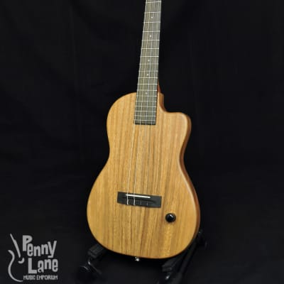 Pono BE Solid Acacia Electric Thin-Body Baritone Ukulele with Case for sale