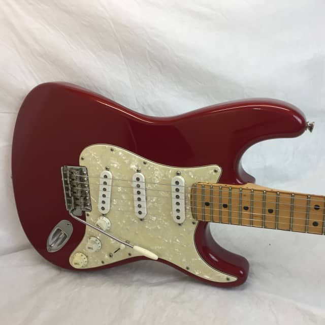 Fender Stratocaster USA Strat Plus  1994 Metallic Red Maple Board Guitar w/ Case image