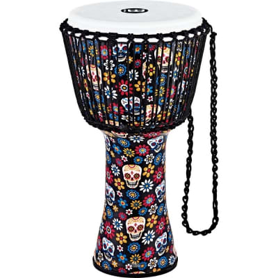 "Meinl 12"" Travel Series Rope Tune Djembe Day of the Dead - PADJ7-L-F"