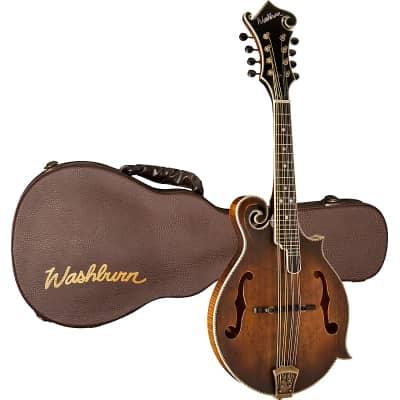 Washburn M118SWK Florentine Vintage Americana Series F-Style All-Solid Mandolin w/Hardshell Case for sale