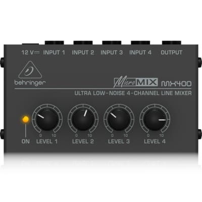 Behringer MICROMIX MX400 Ultra Low-Noise 4-Channel Line Mixer