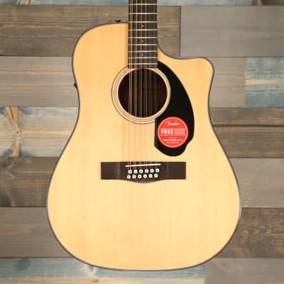 Fender CD-60SCE Dreadnought 12-string, Walnut Fingerboard, Natural S/N IPS180711152 for sale