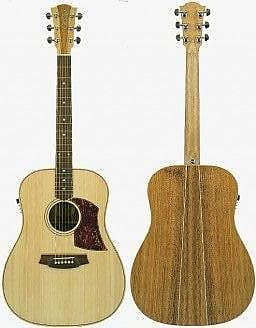 Reasonable Cole Clark Angel 2 Acoustic-electric Guitar Australian Blackwood Top Guitars & Basses Acoustic Electric Guitars Hard Case