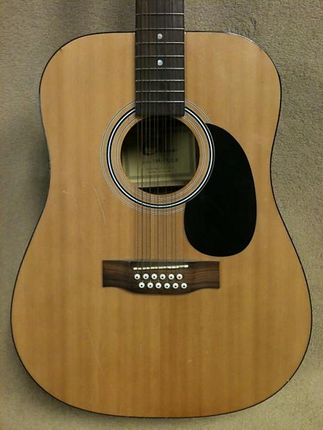 eleca model dag 3 12 n 12 string acoustic guitar reverb. Black Bedroom Furniture Sets. Home Design Ideas