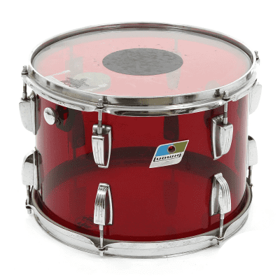 """1970s Ludwig Vistalite 8x12"""" Mounted Tom with Single-Color Finish"""