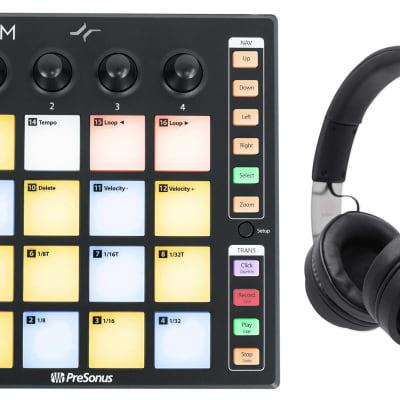 PRESONUS ATOM SQ MIDI USB Ableton DJ Pad Controller+Audio Technica Headphones