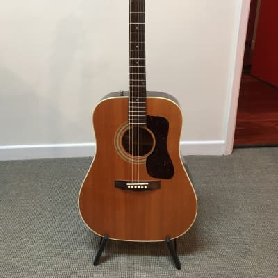 1978 vintage Guild D-40NT, with original case and B-Band pickup installed
