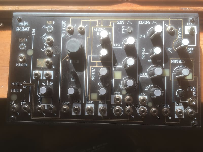 make noise 0 coast semi modular desktop synthesizer reverb. Black Bedroom Furniture Sets. Home Design Ideas