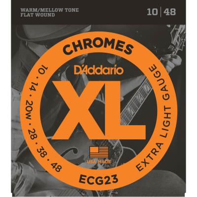 D'Addario ECG23 Chromes Flat Wound Extra Light 10-48