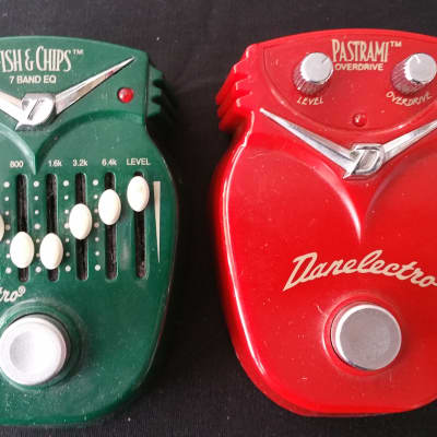 Danelectro Fish and Chips EQ & Pastrami Overdrive Pedals Combo for sale