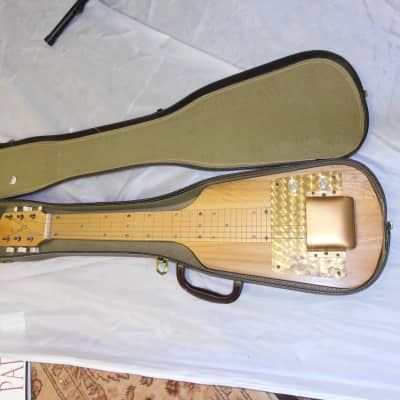 Rare Vintage USA Made 1950's Alamo Lap Steel Guitar with original case for sale