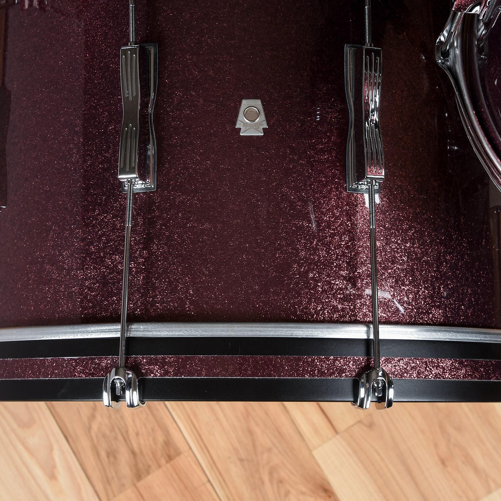 Ludwig Club Date 13/16/22 3pc. Drum Kit Burgundy Mist w/Bowtie Lugs & White Interior (CDE Exclusive)