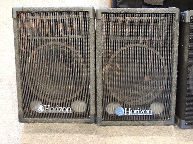 CGM Horizon 12 INCH FLOOR MONITOR SPEAKER (PAIR) Black U0026 Gray
