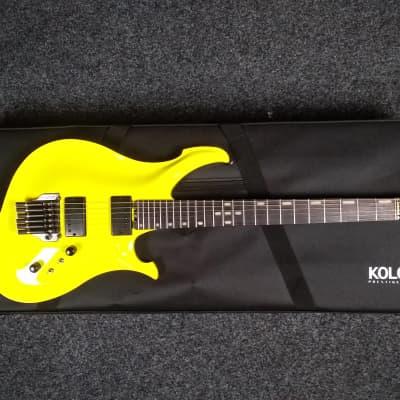 KOLOSS X6 headless Aluminum body electric guitar yellow for sale