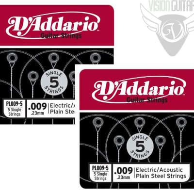 D'Addario Plain Steel Singles 10-Pack of .009 Gauge Single Strings image