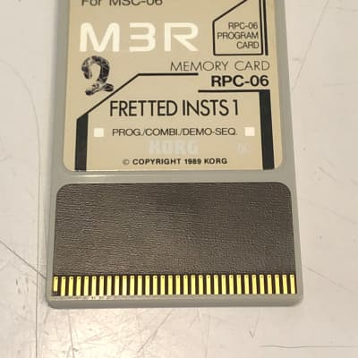 Korg M3R Memory Card RPC-06 Fretted Insts 1