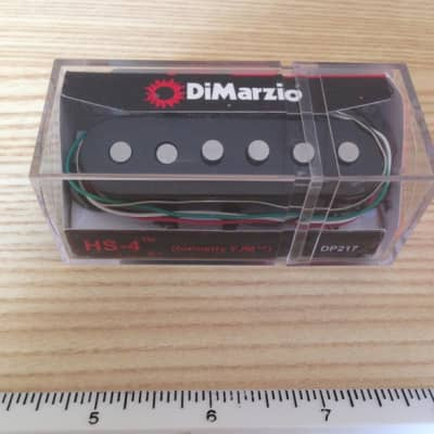 DiMarzio YJM Strat Pickup HS-4 Black Cover DP-217 Yngwie Malmsteen Stratocaster Stacked Coils Mint