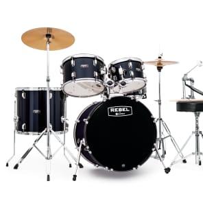 "Mapex RB5044FTCYB Rebel 20x16/10x7/12x8/14x12/14x5"" Complete 5pc Jazz Kit w/ Cymbals"