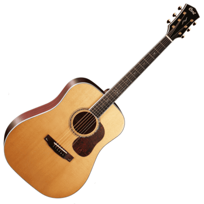 Cort Gold-D8 NAT Solid Silka Spruce Top Dreadnought Natural Glossy