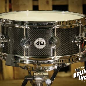 "DW DRVF5514SVC 5.5x14"" Collector's Series Carbon Fiber Snare Drum"